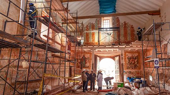 Continúa trabajo de recuperación del Templo Santiago Apóstol de Kuñotambo