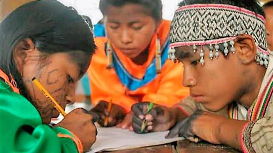 Cusco: escolares de comunidades nativas se suman con entusiasmo a