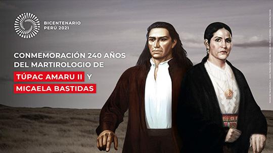 Bermúdez encabeza homenaje a Túpac Amaru II y Micaela Bastidas